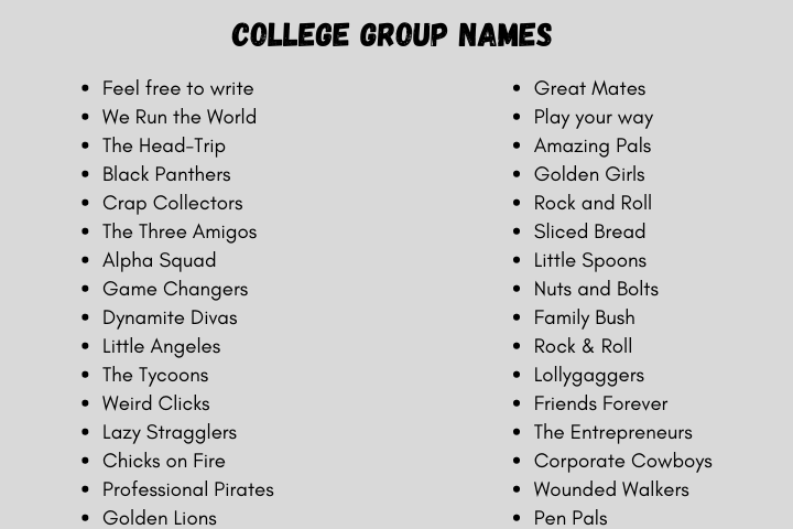 Group for different names friends 51 Best
